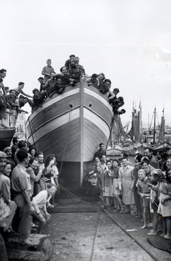 Fano Displaced Persons Camp in Italy